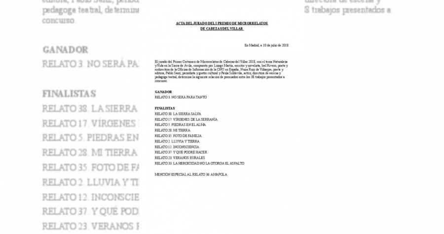 I certamen de microrrelatos 2018_acta del jurado